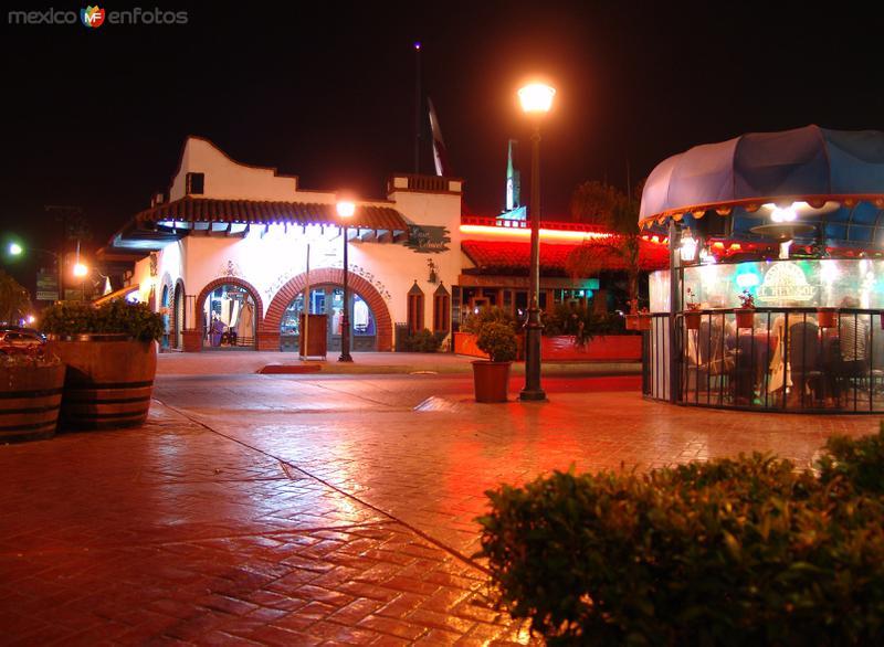 Zona turística de noche