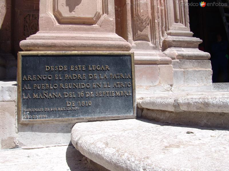 Placa del Grito de Dolores