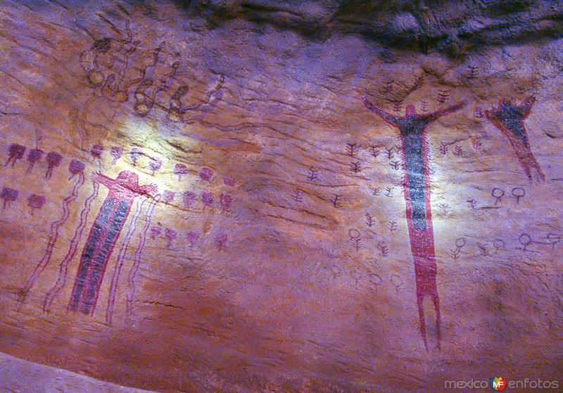 Fotos de Saltillo, Coahuila, M�xico: Pinturas rupestres