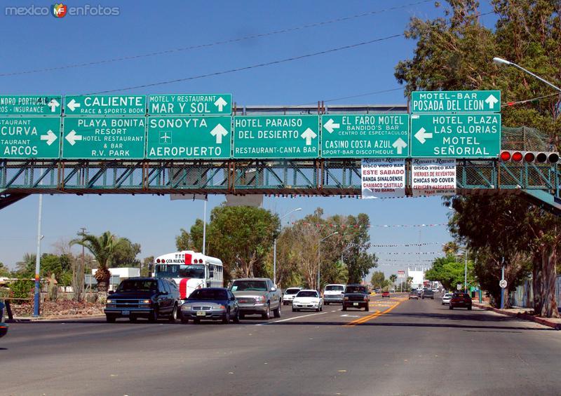 Fotos de Puerto Peñasco, Sonora, México: Señanalmientos de tránsito