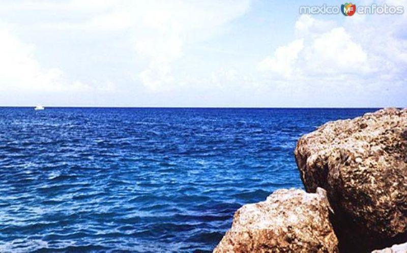 Mar Caribe desde Xcaret