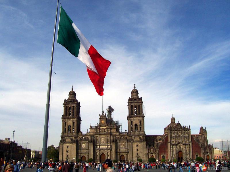 Vista del Zócalo y la Catedral Metropolitana