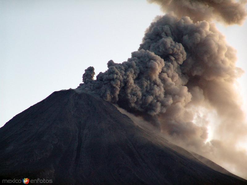Fotos de Volc�n de Colima, Colima, M�xico: Volc�n de Fuego de Colima