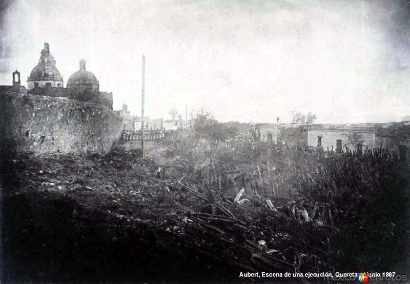 A un costado del Convento de la Santa Cruz (1867)