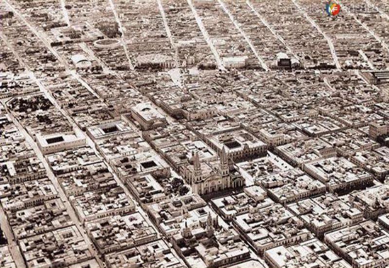 Vista aérea sobre Guadalajara (1942)
