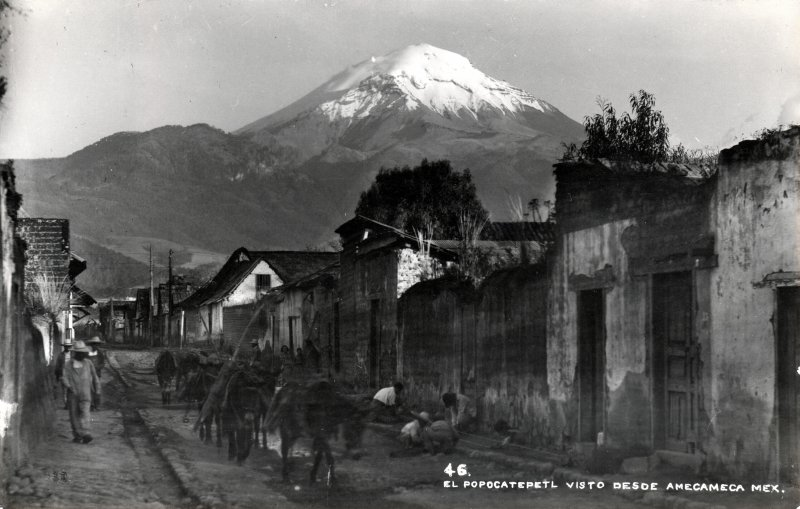 Volcán Popocatépetl visto desde Amecameca