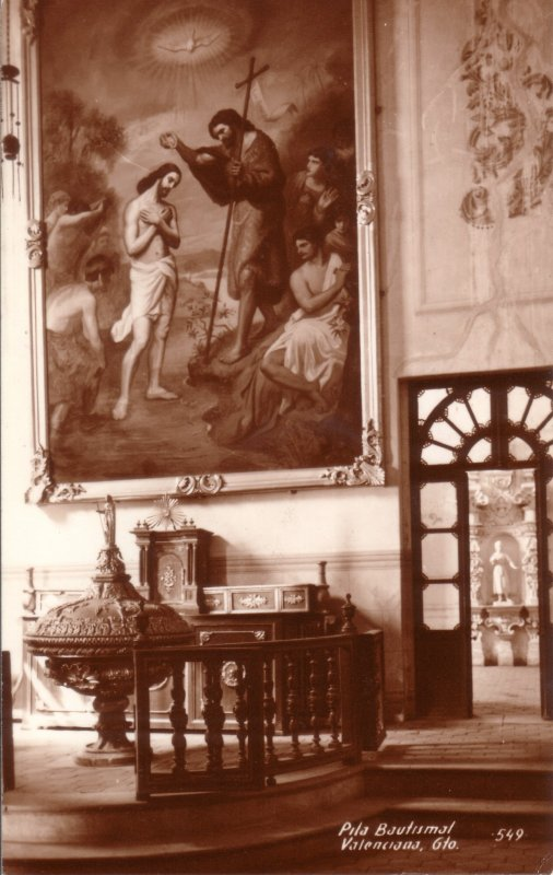 Pila Bautismal. Templo de Valenciana