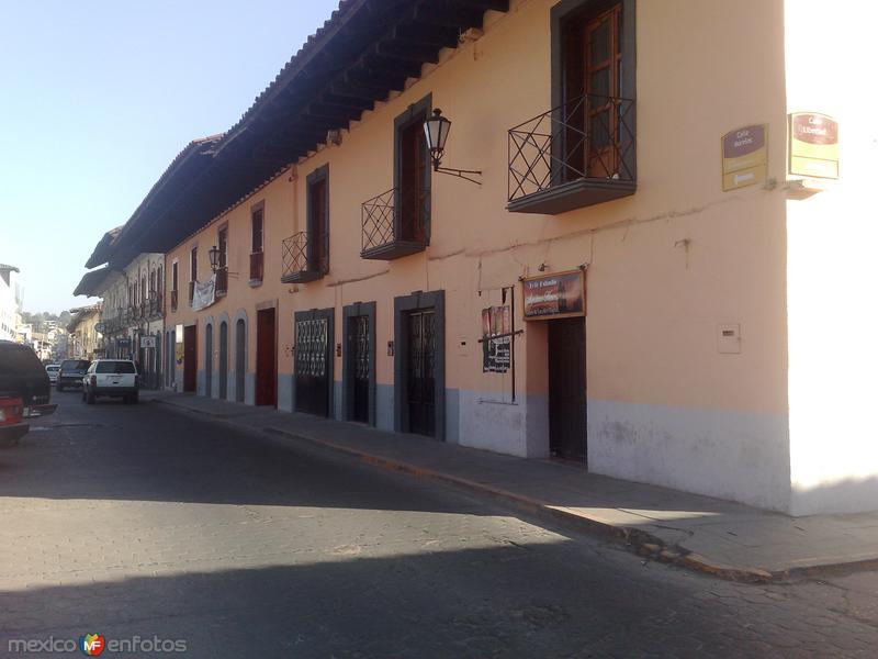 Fotos de Zacatl�n, Puebla, M�xico: Calles en Zacatl�n