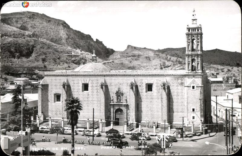 Fotos de Hidalgo del Parral, Chihuahua, México: Postales antiguas de Parral. Iglesias.