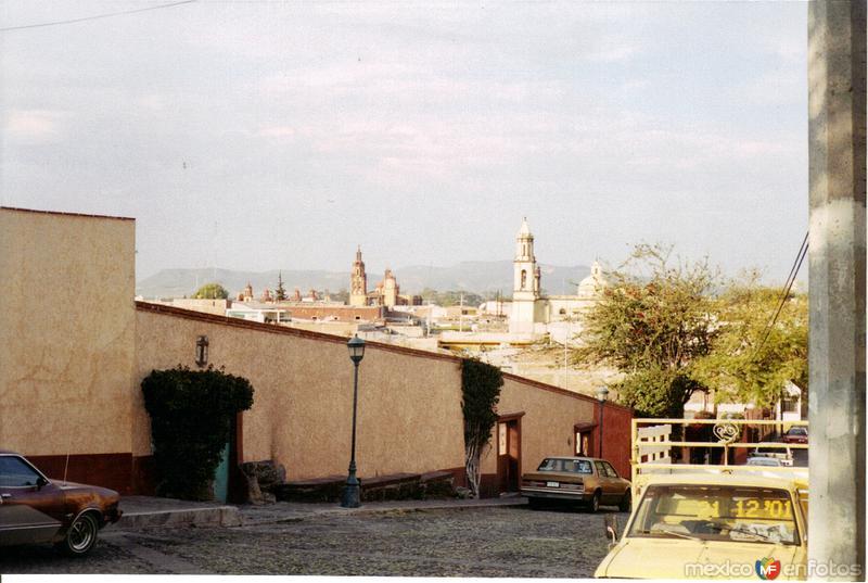 Centro de la ciudad desde el museo de la muerte. San Juán del Río, Querétaro