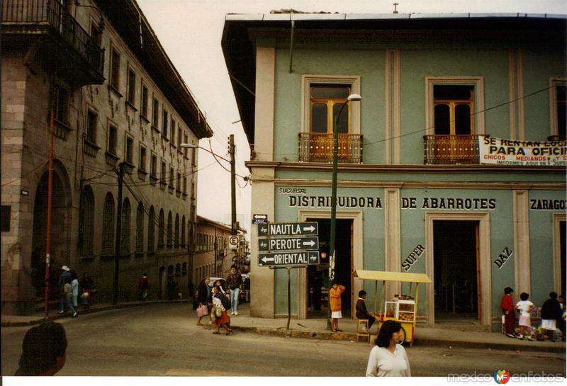 Construcciones coloniales en el centro de Teziutlán, Puebla