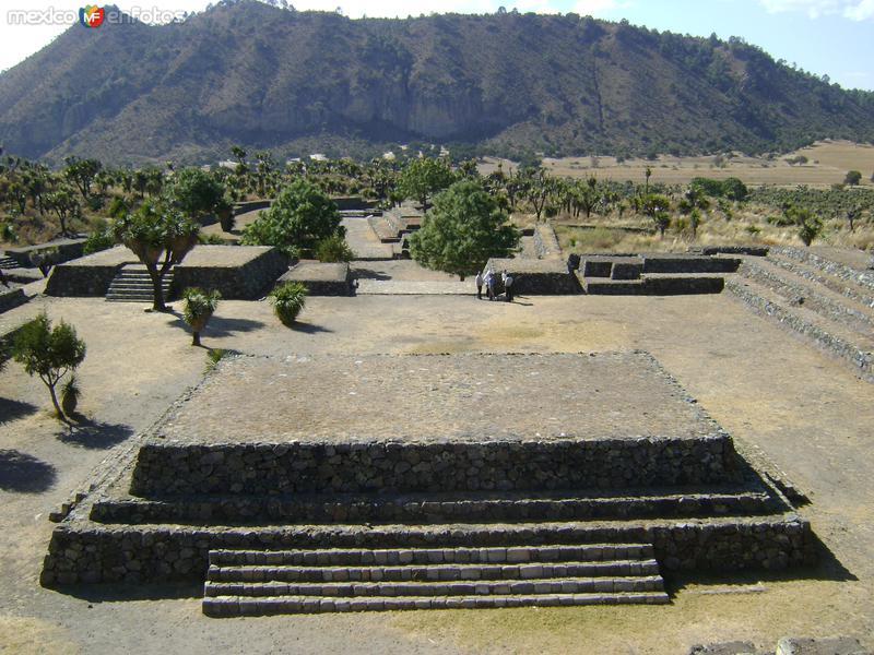 Vista del Juego de pelota 5. Cantona, Puebla