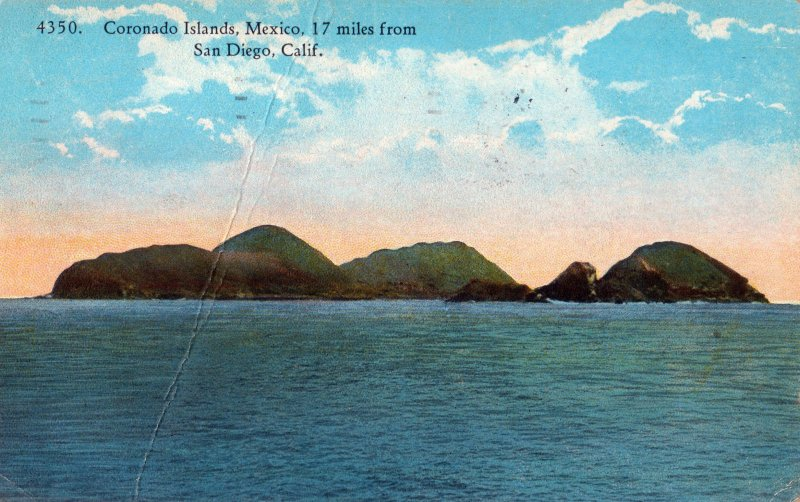 Islas Coronado, 17 millas de San Diego, California.