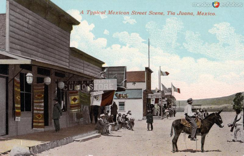 Una calle típica mexicana