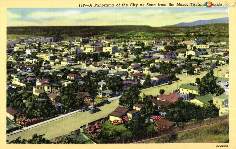 Vista panorámica de la ciudad, desde La Mesa