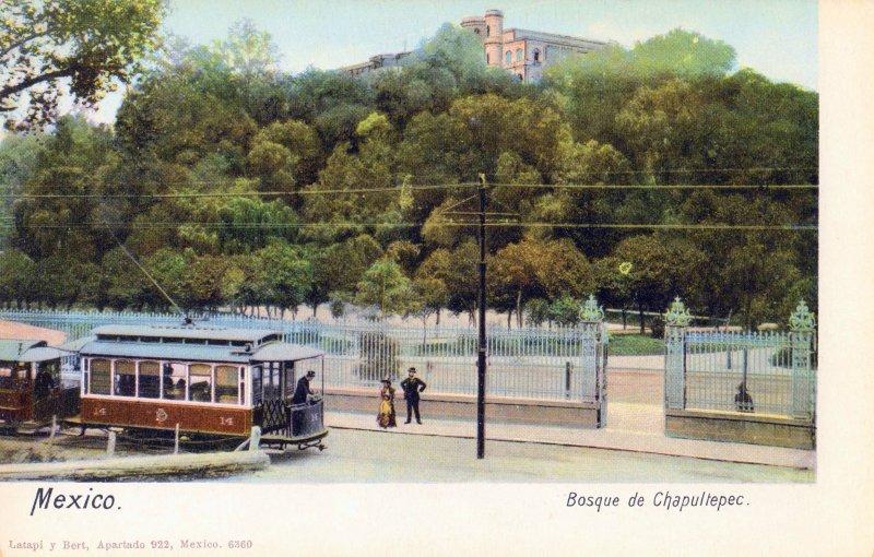 Tranvía y Bosque de Chapultepec