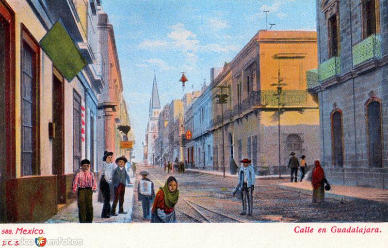 Escena en una calle de Guadalajara