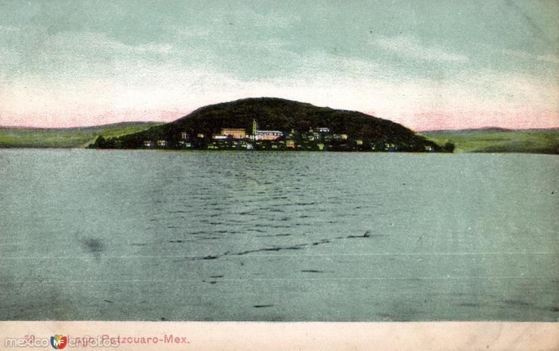 Lago de Pátzcuaro e isla de Janitzio