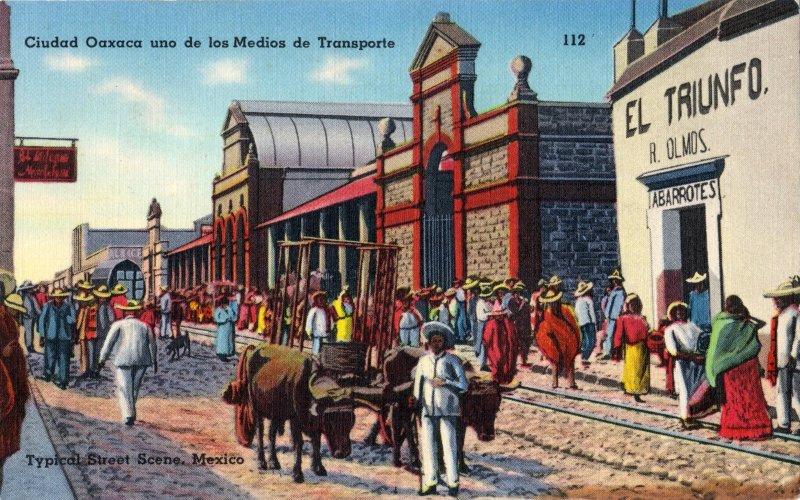 Uno de los medios de transporte de Oaxaca