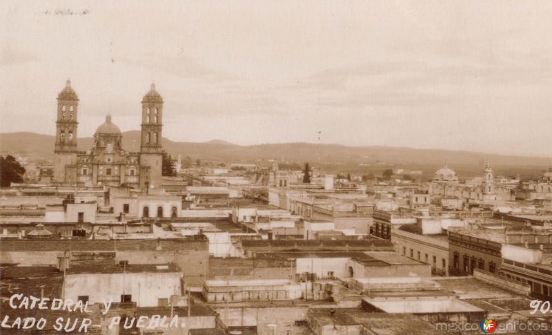 Catedral y vista panorámica de Puebla