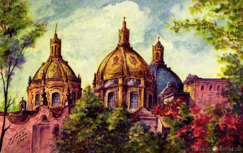 Cúpulas del Templo de El Carmen, en San Angel