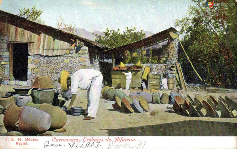 Trabajos de alfarería