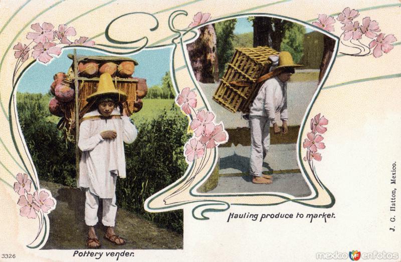 Vendedor de ollas / Llevando productos al mercado
