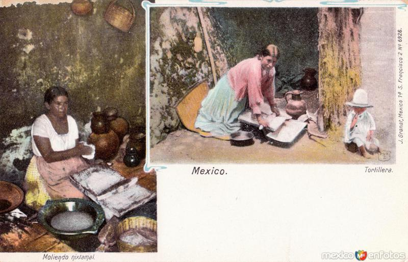Moliendo nixtamal / Tortillera
