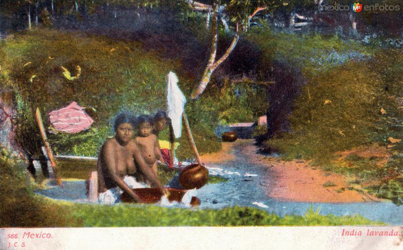 India lavando