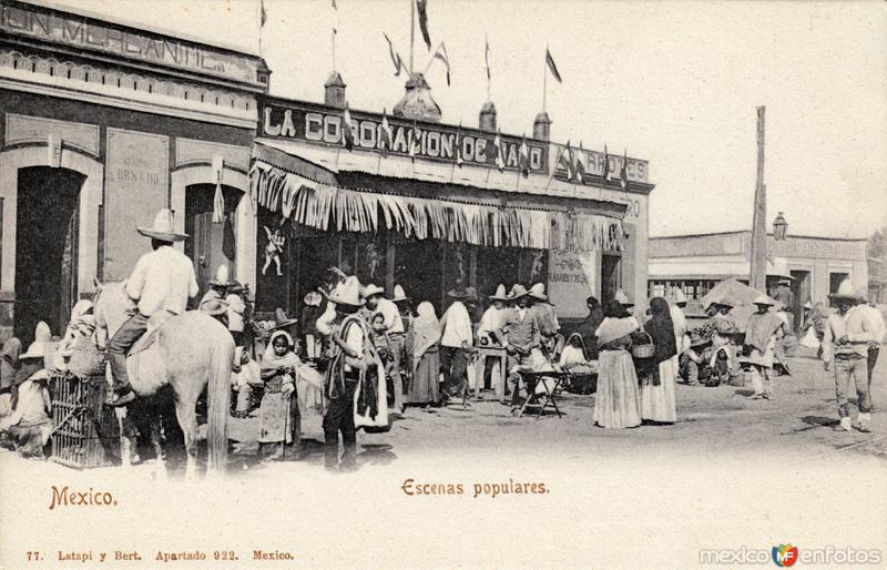 Escena popular en un mercado