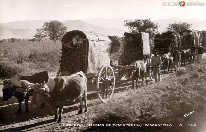 Carretas en Oaxaca