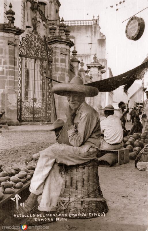 Anciano en un mercado