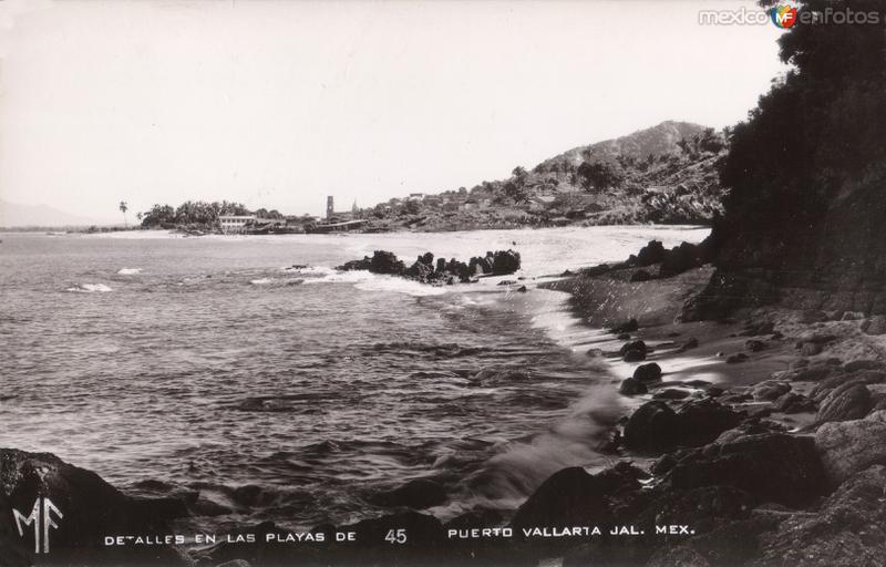 Detalles en las playas de Puerto Vallarta