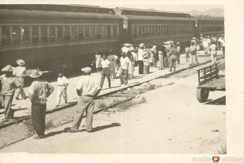 Una estación del ferrocarril