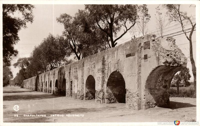 Antiguo acueducto en Chapultepec