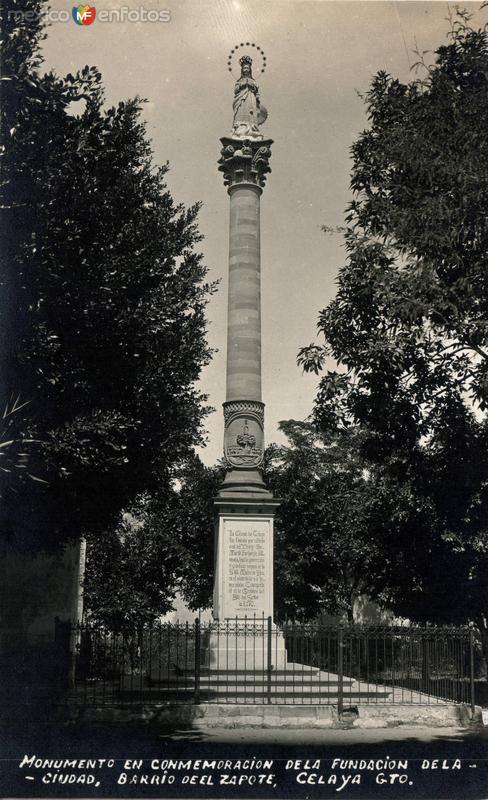Monumento en conmemoración de la fundación de la ciudad