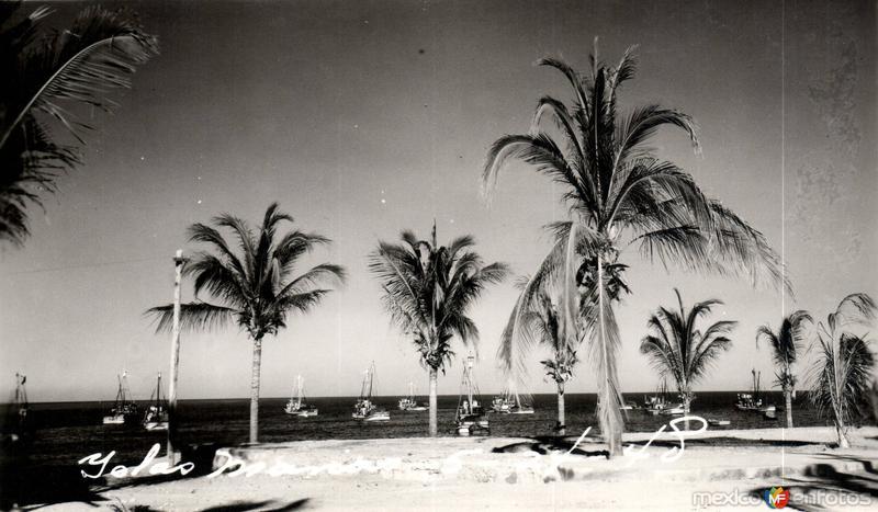 Postal antigua de Las Islas Marías 5-24-48