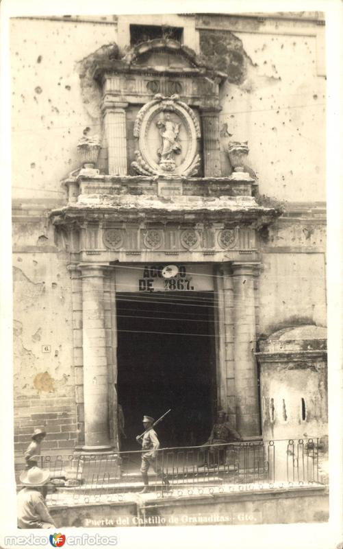 Puerta del Castillo de Granaditas en Guanajuato