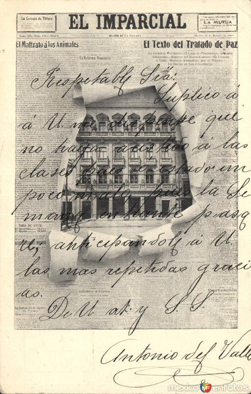 Postal conmemorativa del Primer Centenario de la Independencia (1910)