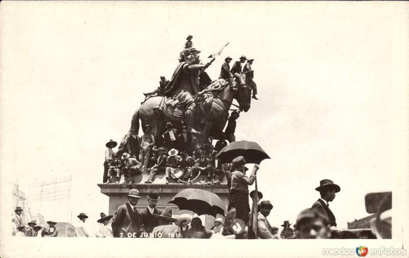 Manifestación en El caballito