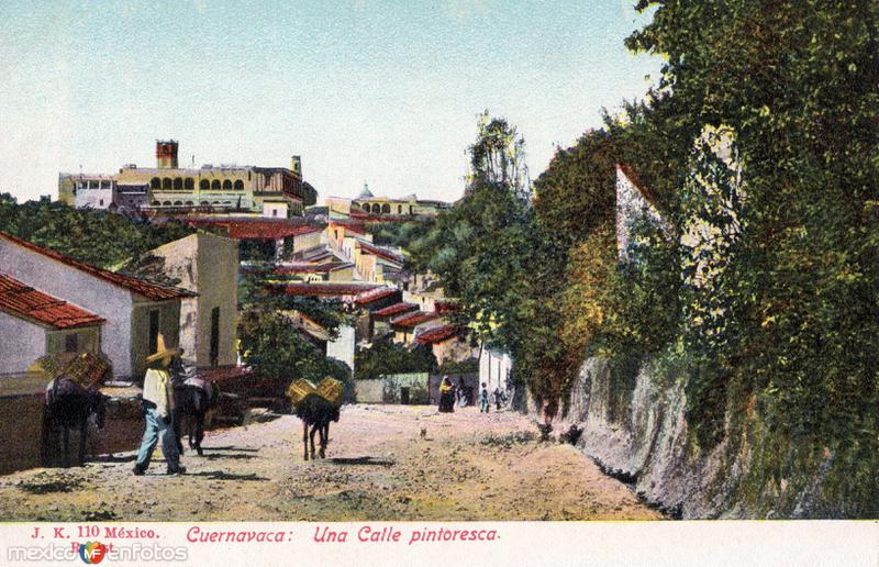 Una calle de Cuernavaca