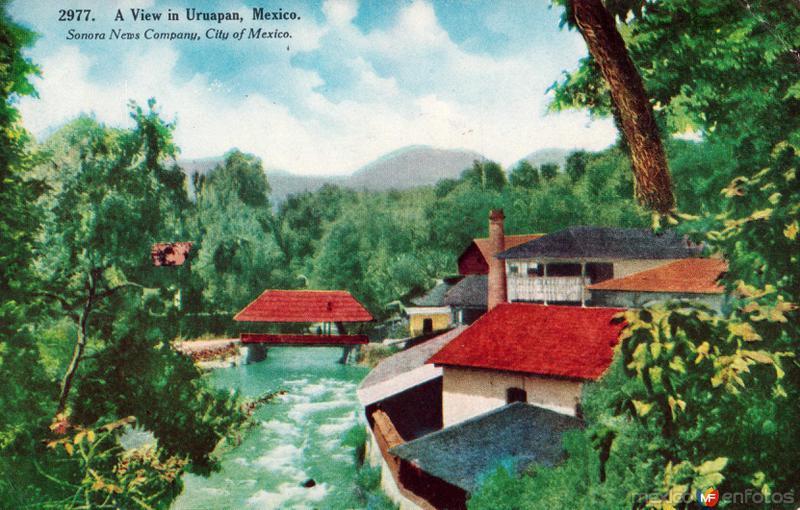 Una vista de Uruapan