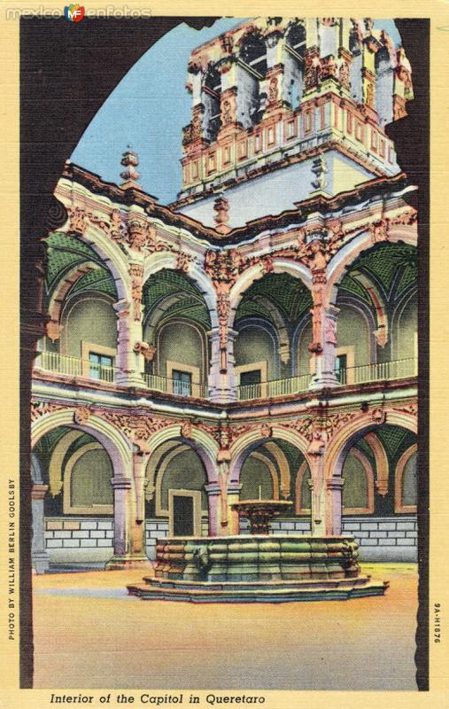 Interior del palacio de gobierno de Querétaro