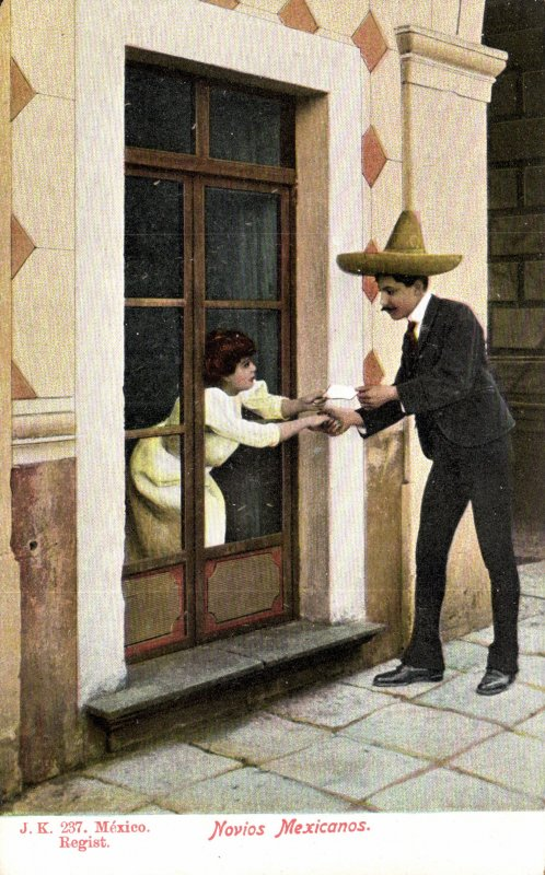 Novos mexicanos con carta de amor