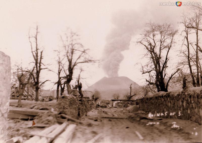 Devastación del volcán Paricutín