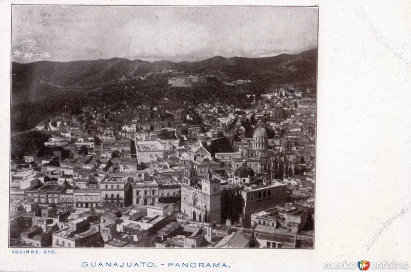 Vista panorpamica de Guanajuato