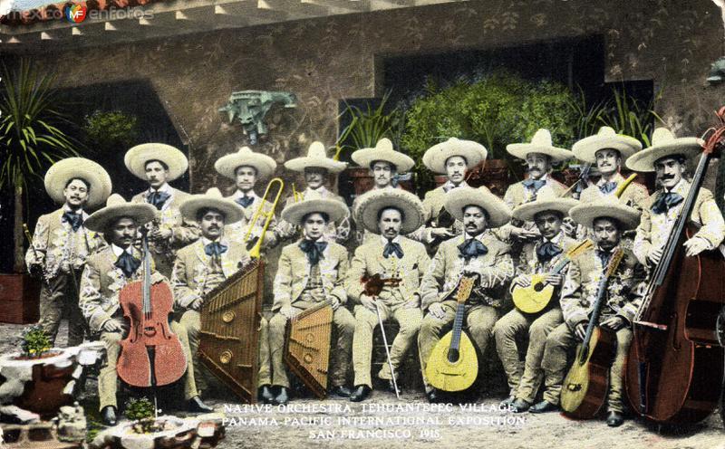Mariachi de Tehuantepec en la exposición Panamá-Pacífico, de San Francisco, California (1915)