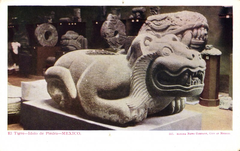 El Tigre, ídolo de piedra en el Museo Nacional de Historia