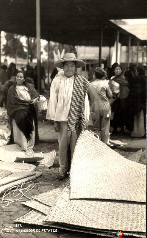 Fotos de , , M�xico: Vendedor de petates