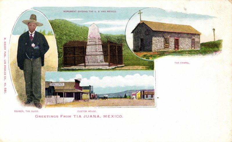 El guía Rubén, la Aduana, la Capilla y el monumento fronterizo
